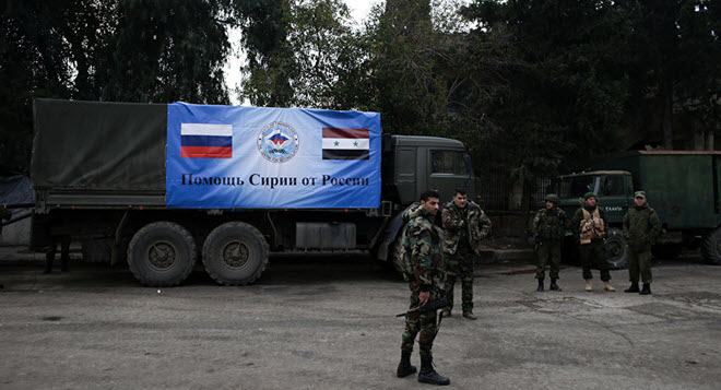 Russian Military Brings Almost 9 Tonnes of Relief Aid to Syria's Aleppo